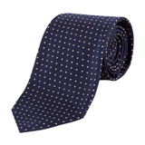 Paul Smith Ties - Classic Navy Pin Dot Tie
