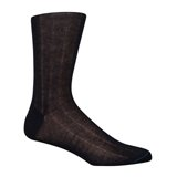 Paul Smith Socks - Navy Needle Out Ribbed Socks