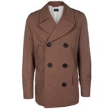 Paul Smith Coats - Brown Double-Breasted Pea Coat