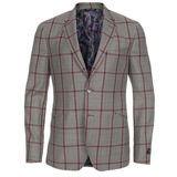 Paul Smith Jackets - Grey Windowpane Check Jacket