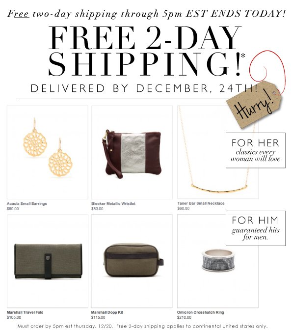 Free 2 Days Shipping | Guaranteed Delivery By 12/14