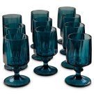Vintage Blue Glasses - Set of 5