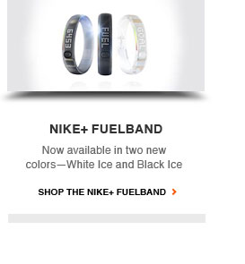 NIKE+ FUELBAND | Now available in two colors — White Ice and Black Ice