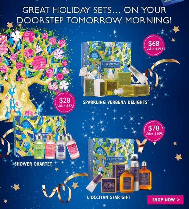 Great Holiday Sets... On Your Doorstep Tomrrow Morning!