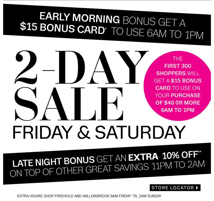 $15 Bonus Card when you come in store