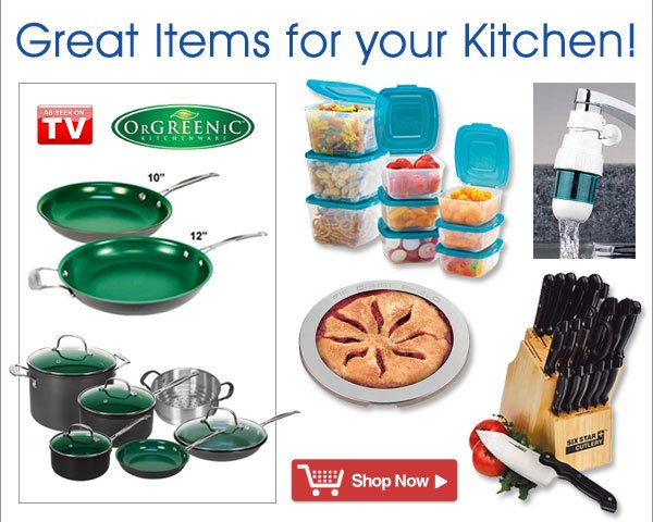 Great Items for your Kitchen from Healthy Living - America's Number One Healthcare Catalog