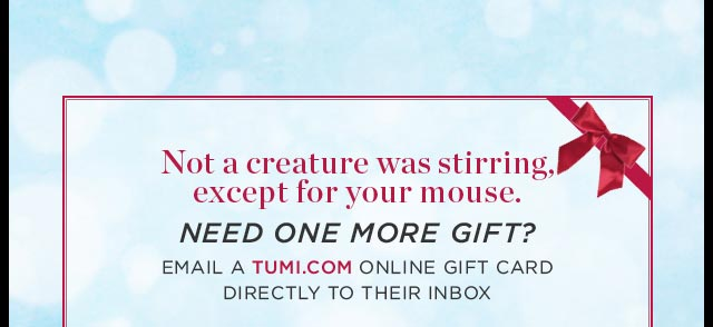 Shop Tumi Online Gift Cards