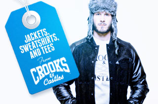 Jackets, Sweatshirts, and Tees From Crooks and Cas