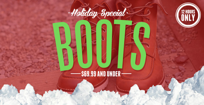 Boot: $69.99 and Under
