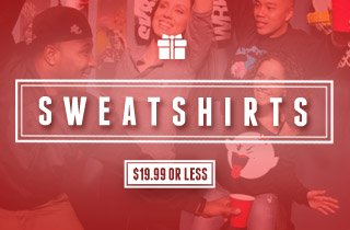 Sweatshirts: $19.99 or Less