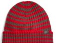 striped ribbed knit cap