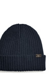 solid ribbed knit cap
