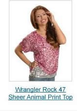 Wrangler Rock 47 Animal Print