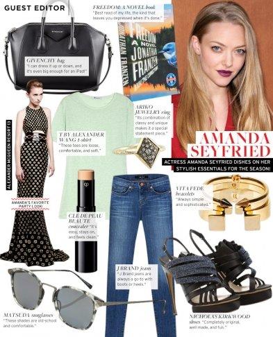 Guest Editor: Amanda Seyfried