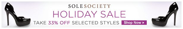Take 33% Off Select Styles at Sole Society, Shop Now