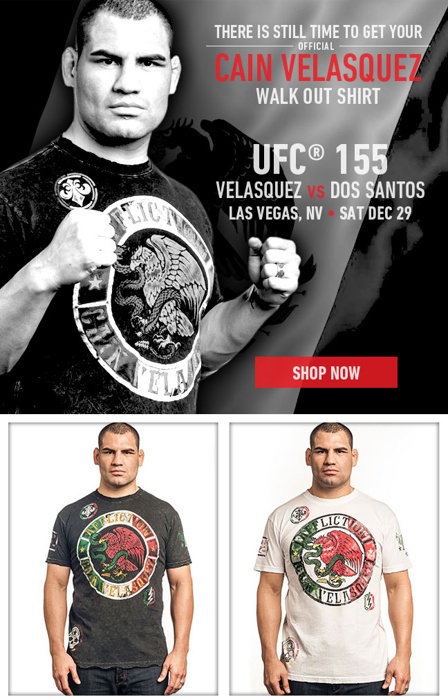 Cain Velasquez Walk Out Shirt Now Available!