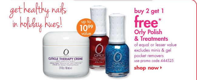buy 2 get 1 free* Orly Polish & Treatments