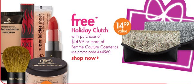 free* Holiday Clutch