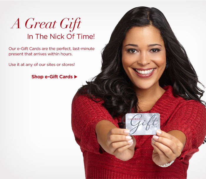 e-Gift Cards Arrive Within Hours!
