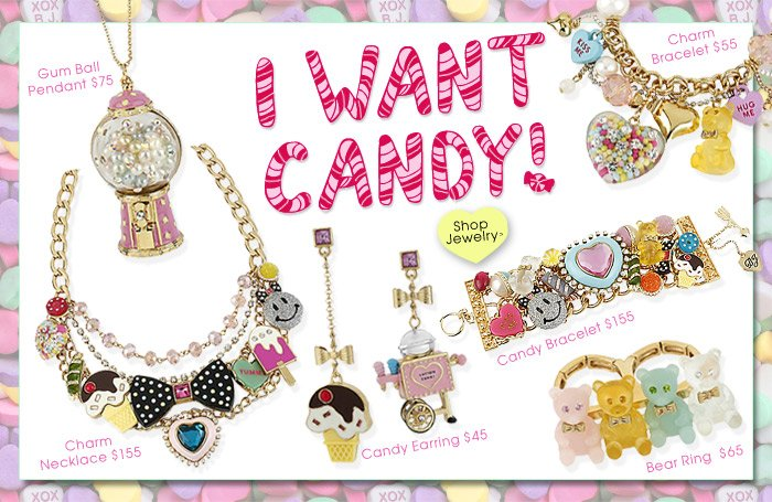 I Want Candy! Shop Candy Jewelry