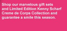 Shop our marvelous gift sets and Limited Edition Kenny Scharf Creme de Corps Collection and guarantee a smile this season.