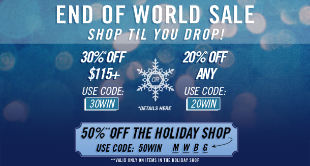 END of WORLD SALE!