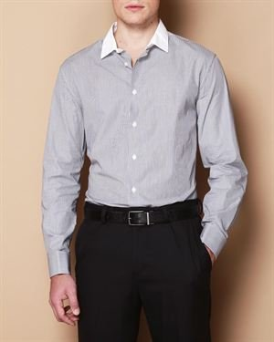 John Varvatos Striped Button-Up Cotton Shirt $99