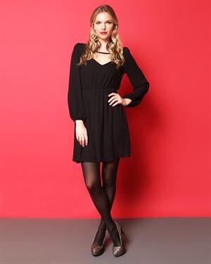 Everly Long Sleeve V Dress $35