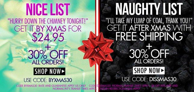 HURRY! Get It There By Xmas! 30% Off All Orders!