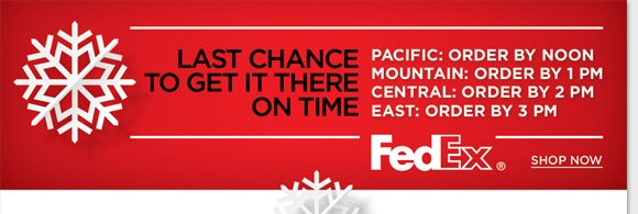 LAST CHANCE! Hurry and shop now to get your last minute gifts in time for Christmas! Shop the world's best comfort brands for the entire family and enjoy FREE Overnight Shipping on ALL orders of $200 or more for delivery by December 24th.* Shop now to find the best selection online and in stores at The Walking Company.
