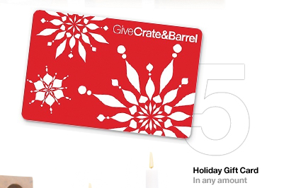 5 Holiday Gift Card in any amount