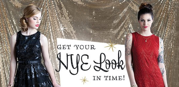Get your NYE look in time!
