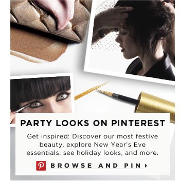 Party Looks On Pinterest. Get inspired: Discover our most festive beauty, explore New Year's Eve essentials, see holiday looks, and more. Browse and pin