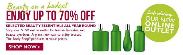 Enjoy up to 70% off - selected beauty essentials all year round - shop now