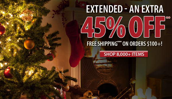 An extra 45% OFF over 8,000 items!