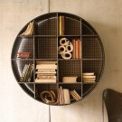 Round Industrial Wall Shelf