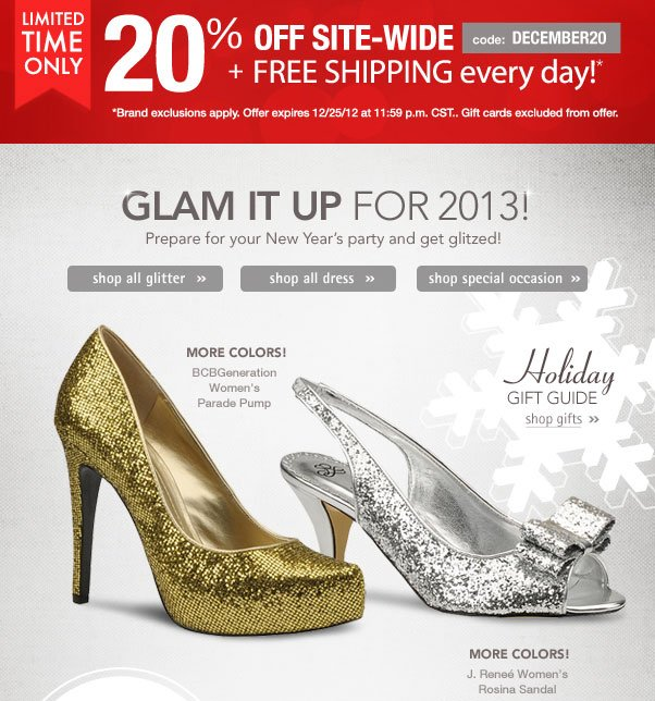 New Year's Glam - 20% Off!