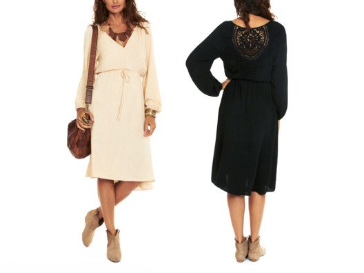 This is a great transitional dress that you can wear from spring right through to fall.