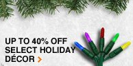 40% OFF Holiday Décor