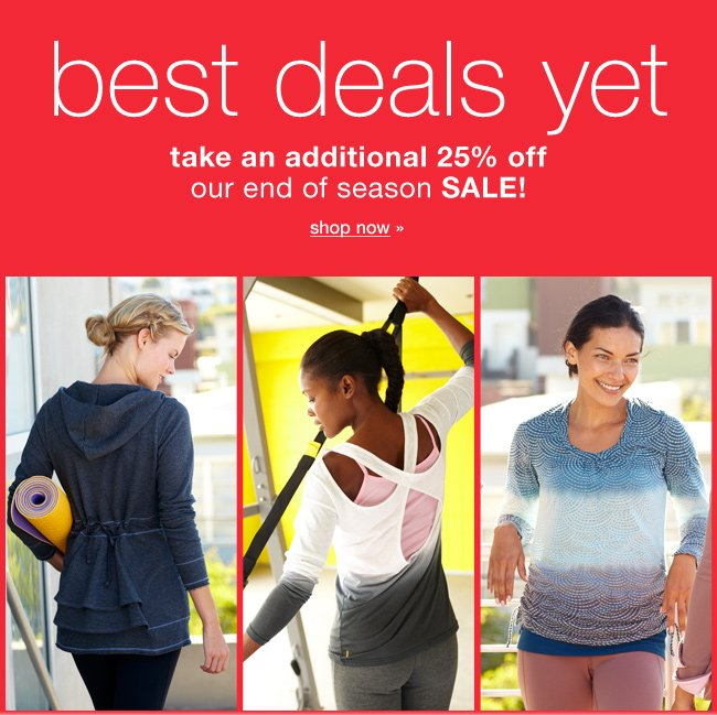 Best deals yet. Take an additional 25% off sale! Shop now.