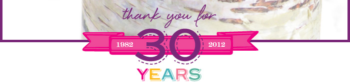 Thank you for 30 years