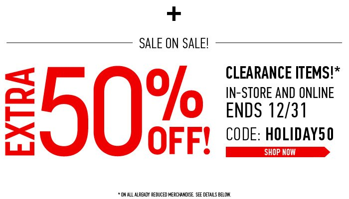 Sale On Sale! Extra 50% Off Sale Items - Shop Now