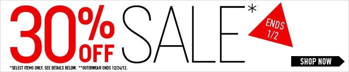 30%Off Sale - Shop Now
