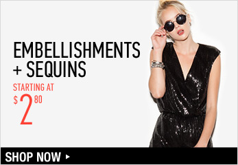 Embellishments + Sequins Starting at $2.80 - Shop Now