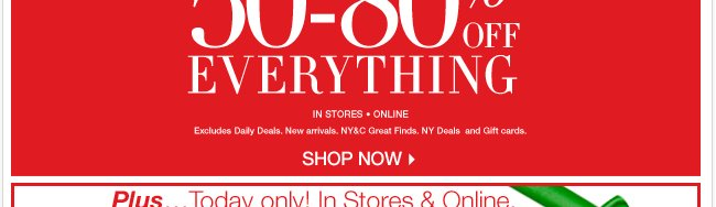 50-80% OFF EVERYTHING + Amazing Daily Deals! Get Gifting - Shop Now!