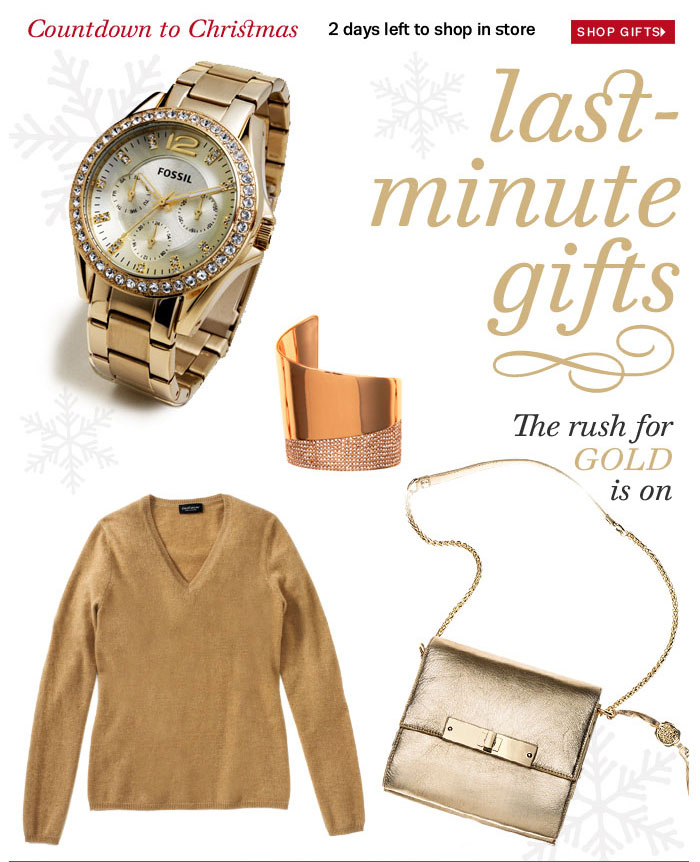 Countdown to Christmas 2 days left to shop in store Shop Gifts Last minute gifts