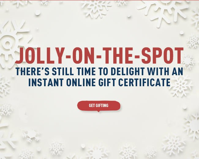 Still time to buy an online gift certificate
