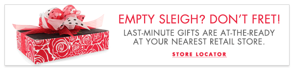 Empty Sleigh? Don't Fret! Last-minute gifts are at-the-ready at your nearest retail store.