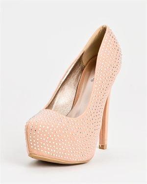 Qupid Marquise Glitter Heels