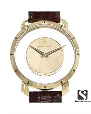 Brand New STEINHAUSEN Stainless Steel and Leather Men's Watch